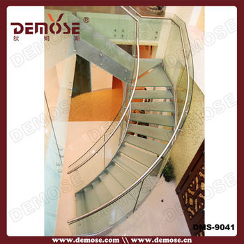 Contemporary Staircases/spiral Staircase Prices/glass Curved Staircase Cost