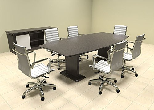 Modern Contemporary Boat Shaped 8' Feet Conference Table, #MT-STE-C6