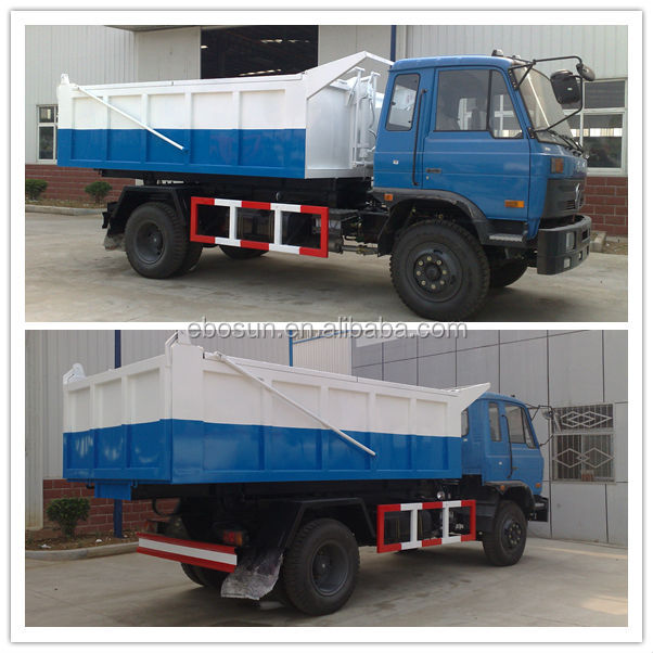 DongFeng 170hp hermetic tipper garbage truck/refuse truck