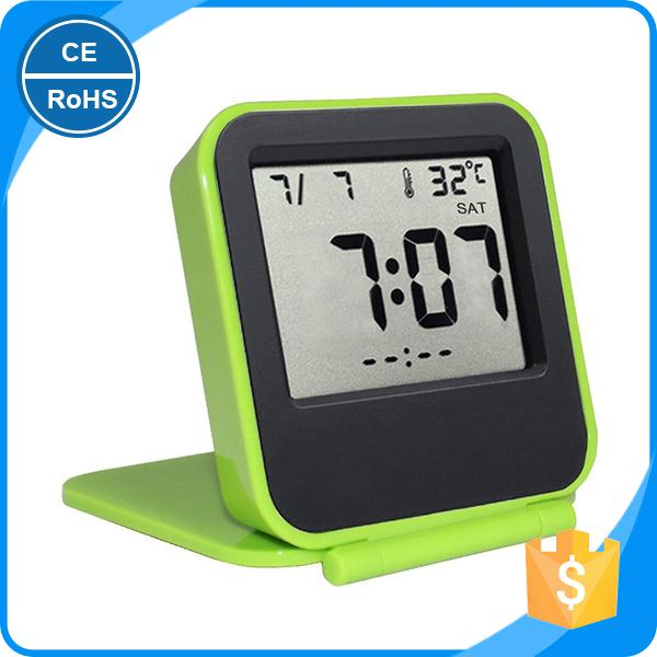 Small cheap desk alarm electronic digital clock time