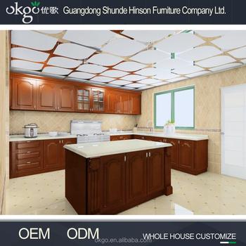 PVC Membrane Classic Design Kitchen Cabinets