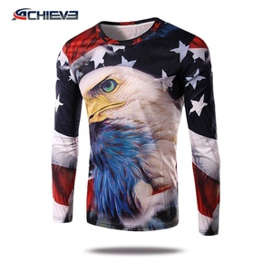 New style Custom design slim fit clothing Unisex low price sublimation long sleeve t shirt in China factory