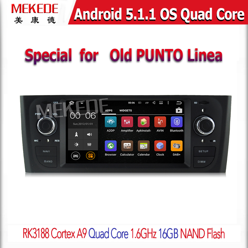 Android 5.1.1 1 din dvd gps for fiat punto 2005-2009 Fiat Linea 2007-2011 car dvd player for fiat punto Linea autoradio car dvd