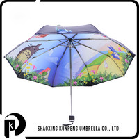 New Design Convenient Frame 3 Folding Umbrella