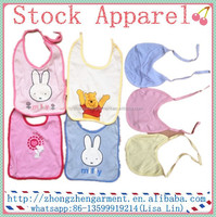baby bib 100% cotton stock lots wholesale