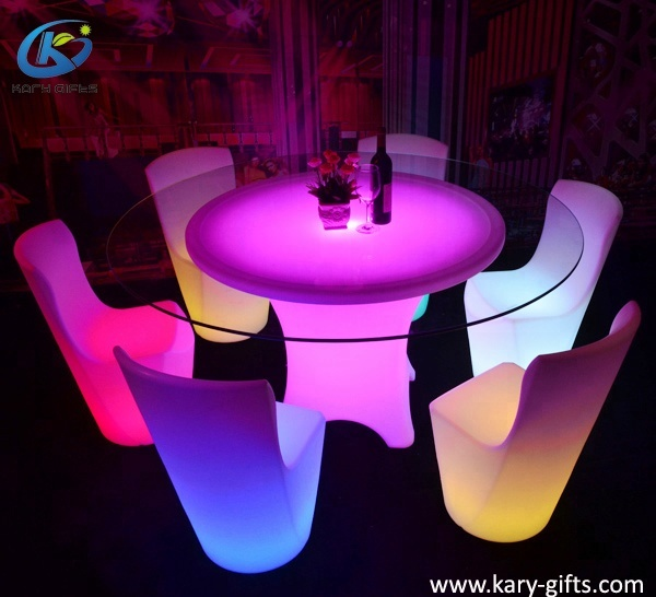 Elegant Glass Led Light Round Dining Table For Luxury Wedding Buy Dining Table Led Light Table Led Round Table Product On Alibaba Com