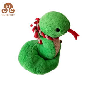 low price soft toy snake stuffed animal plush toy with scarf