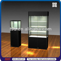 TSD-W006 custom retail store hot sale modern lockable MDF wooden glass jewelry display cabinet