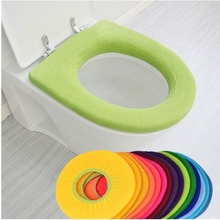 Warmer Toilet Washable Cloth Seat Cover Pedestal Pan Cushion Pads Lycra Use In O-shaped Flush Comfortable Toilet Random Color