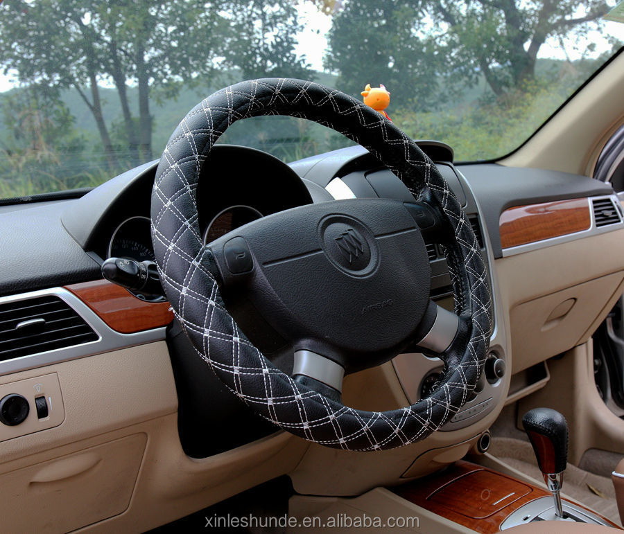 Universal Leather Steering Wheel Cover