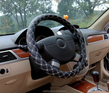 Phổ Leather Chỉ Đạo Wheel Cover