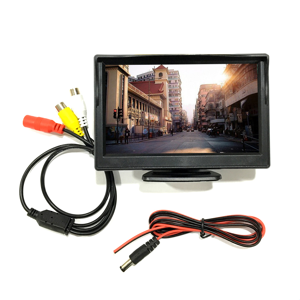 "High resolution 5"" Color TFT LCD 12V motorized car monitor 5inch"