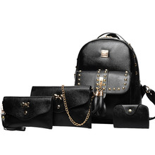522dcfc0b016 2018 Bulk Supply Fashion Durable ladies handbag bags 4 Pieces set PU  Leather women bag