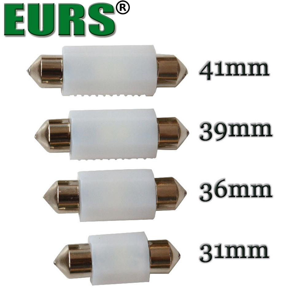 EURS 39mm 41mm dual light source Auto car 1W LED reading lights 12V 1.5W
