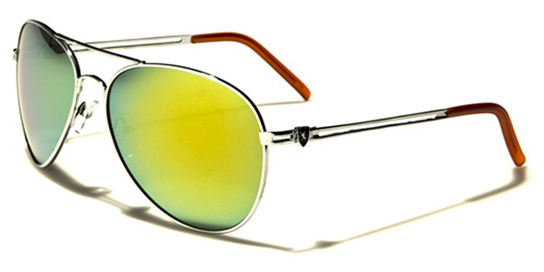 d6acdc44586 Get Quotations · Khan Designer Color Mirror Lens Fashion Retro 80 s Aviator  Sunglasses