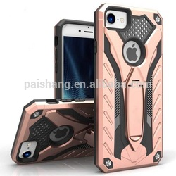 Slim Shock-Resistant Hybrid Armor Case with Credit/ ID Card Compartment vertical slider card style case for Apple iphone 7 7plus