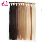 12in-24inch Factory Wholesale Virgin Remy Human stick I Tip Pre-bonded Hair Extensions