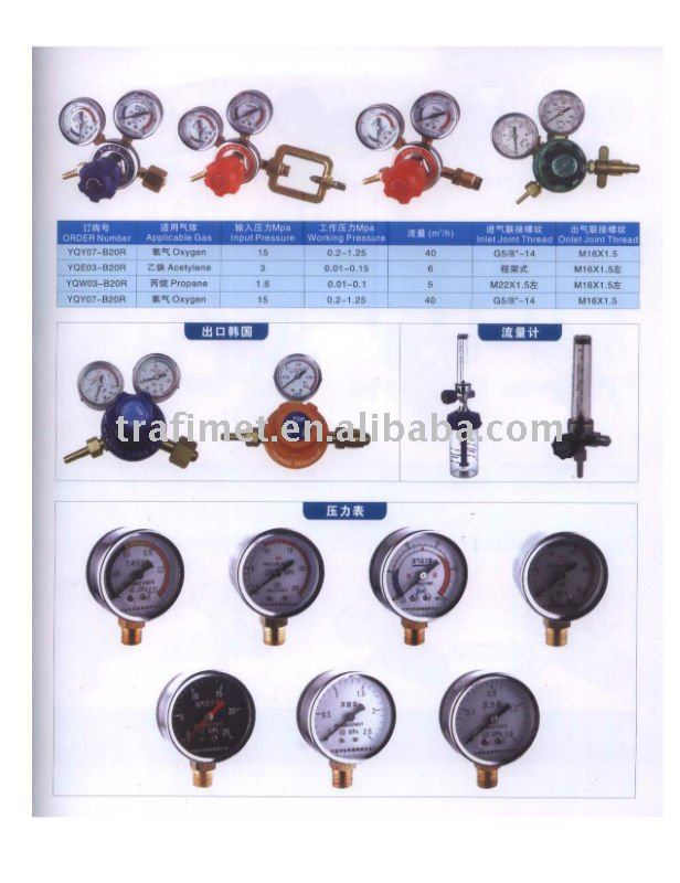 Propane Regulator w/ Gauges