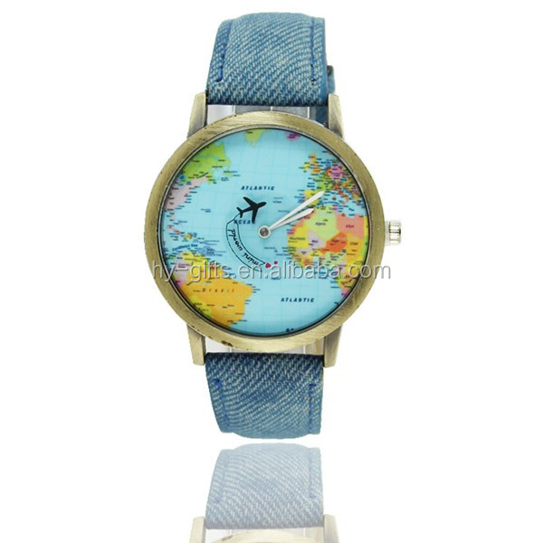 Hot sale world map watch fashion japan movement travel map watch hot sale world map watch fashion japan movement travel map watch gumiabroncs