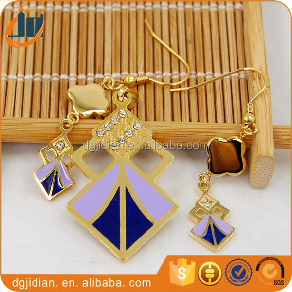 Wholesale Stainless Steel Pendant Necklace And Earring Jewelry Set 2015