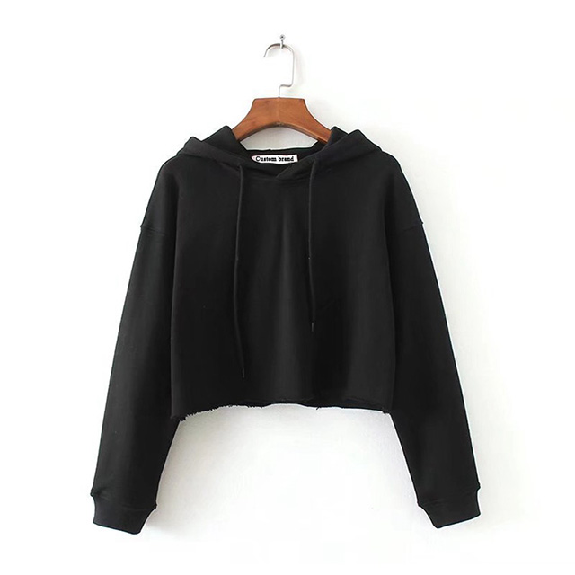Streetwear Sweatshirt Crop Top Hoodies Damen Crop Hoodies