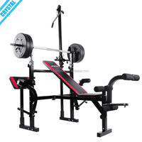 SJ-7850 Free shipping goods multi home gym equipment adjustable Weightlifting bench press with lat pull down bar