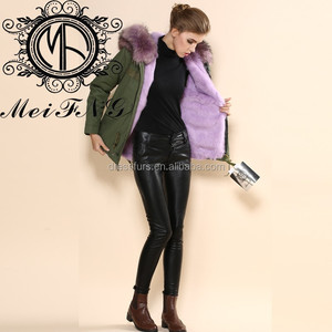Women coat purple thick autumn winter warm polyester fur fashion 2019