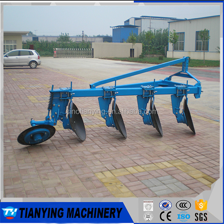 Used agricultural farm tractor disc plough with scraper for sale