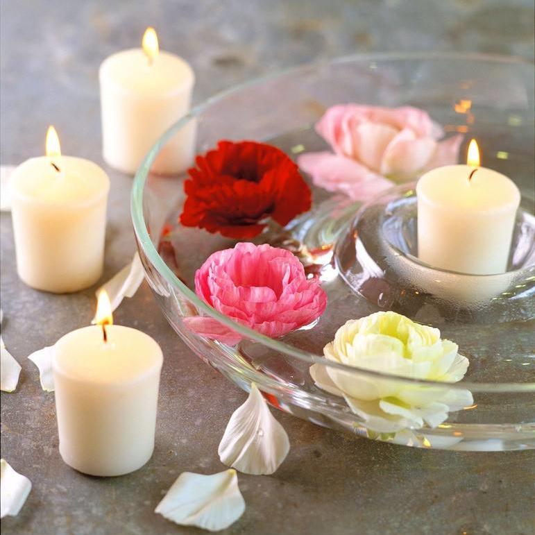 Pure White Fruity Fragrance Christmas Home Decor Votive Candle