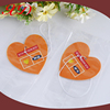 2016 Heart Shape Long Lasting Scent Paper Air Freshener For Car