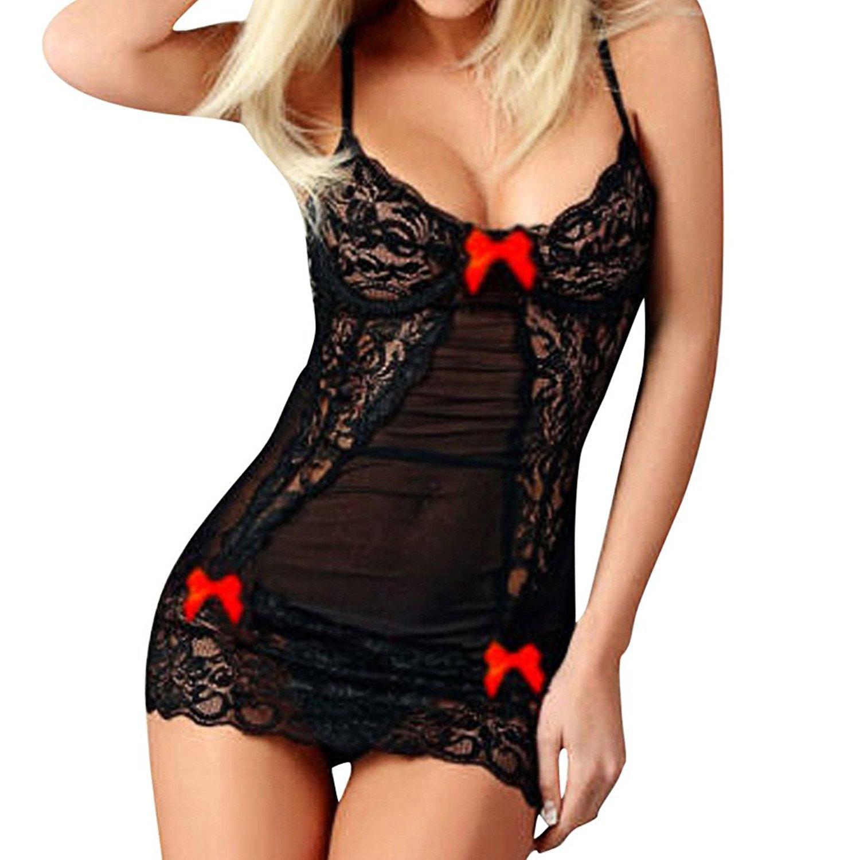 93efed176e553 Get Quotations · Littleice Women Sexy Underwear Ladies Girls Sexy Bow Lace  Racy Lingerie Dress Underwear Spice Suit Temptation