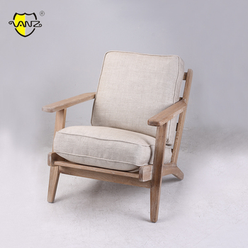 French Style Accent Chair Leisure With Soft Cushion Sun Lounge Chair