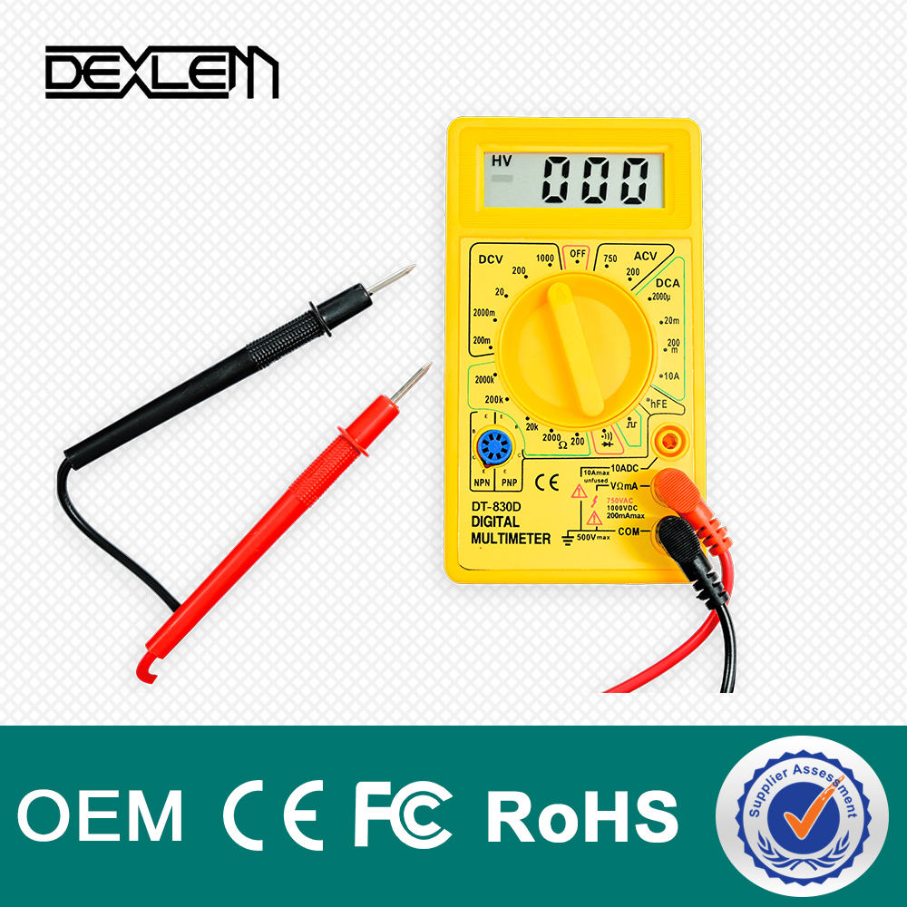 DELE DT-830D low price pen type pocket multimeter digital