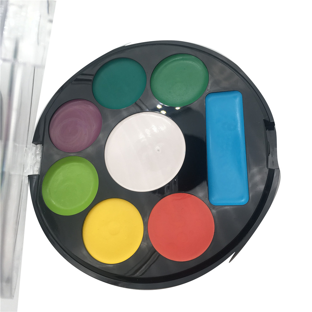 2019  safe non-toxic  FDA water based face painting kids and professional art set 8 color mini whole sale