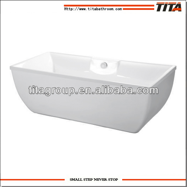 High quality square bathtub sitting bathtub