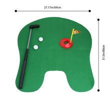 UCHOME Grappige Toilet Mini <span class=keywords><strong>Golf</strong></span> <span class=keywords><strong>Mat</strong></span> Potty Putter Putting Game Novelty