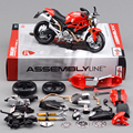 DMH 696 Motorcycle Model Building Kits 1 12 Assembly Toy Kids Gift Mini Moto Diy Diecast