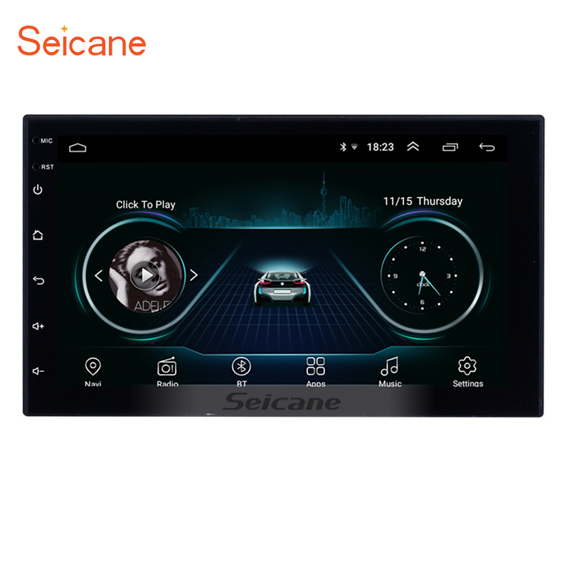 7&quot; Android 9.1 Universal GPS Navigation Radio HD Touchscreen Multimedia <strong>Player</strong> with Bluetooth USB Carplay Steering Wheel Control