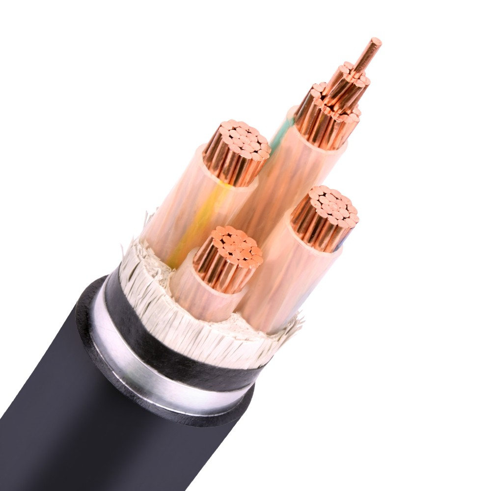 High quality 35mm2 copper conductor 4 core cable 3+1 cores copper power cable 240mm2 xlpe cables