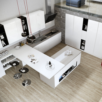 Black White New Design Modular Kitchen Furniture With Modern Mini Bar Buy New Design Kitchen New Design Kitchen Furniture Modular Kitchen Furniture Product On Alibaba Com