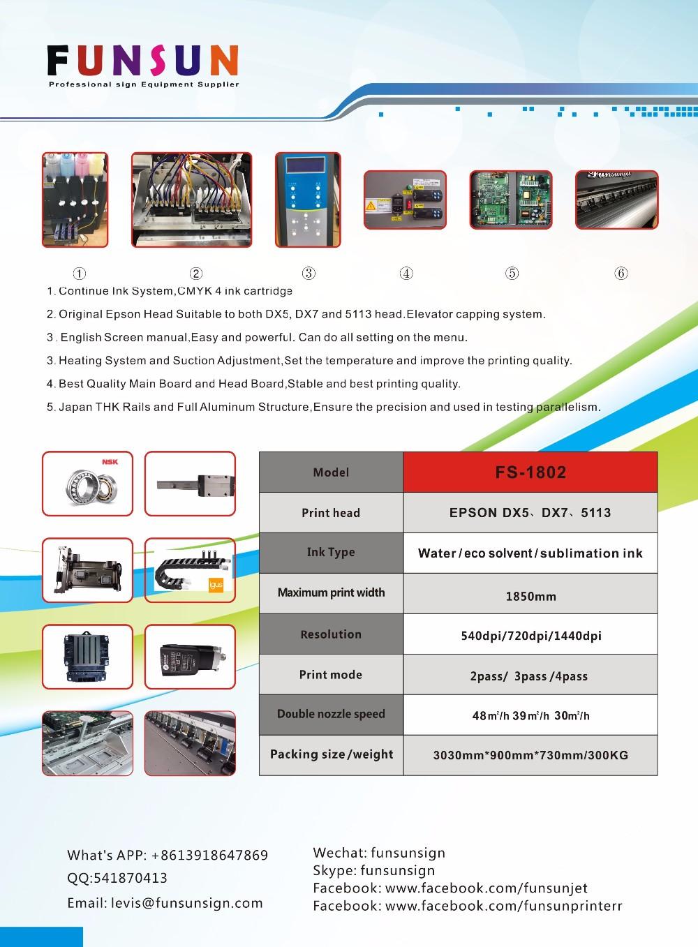 Funsunjet Fs1802ksublimation Printer For Mug With 5113 Head For Transfer  Paper Printing - Buy Sublimation Printer For Mug,5113 Head Sublimation