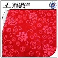 Very Good Textile Plain Weft Knitting Velvet Custom Pattern Designed Embossed Fabric