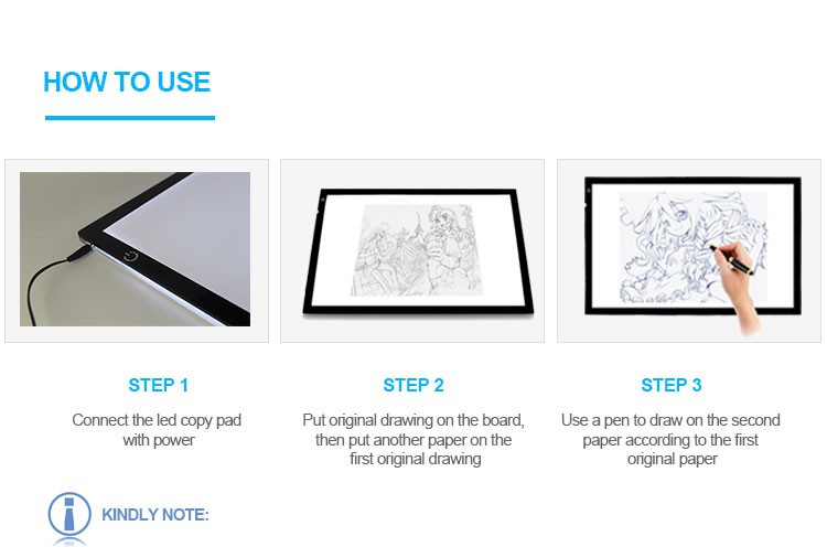 Super Bright Led Light Tracing Board Art Graphics Drawing Tablet ...