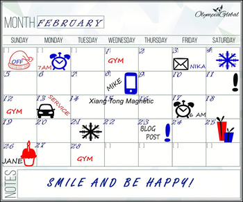 Monthly Planner Dry Erase Magnetic Calendar For Refrigerator For
