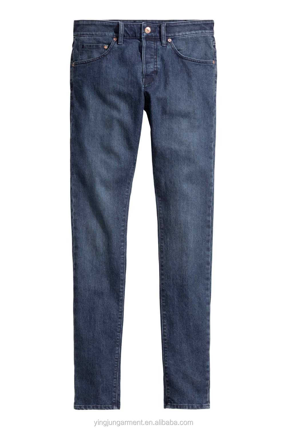 Skinny Low Jeans-5-pocket Low-rise Jeans In Washed Stretch Denim ...
