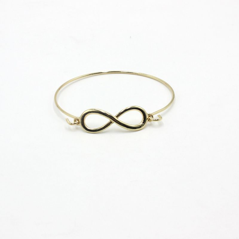 Hot Sale Fashion Zinc Alloy Bangles Infinity Bracelet Bangles