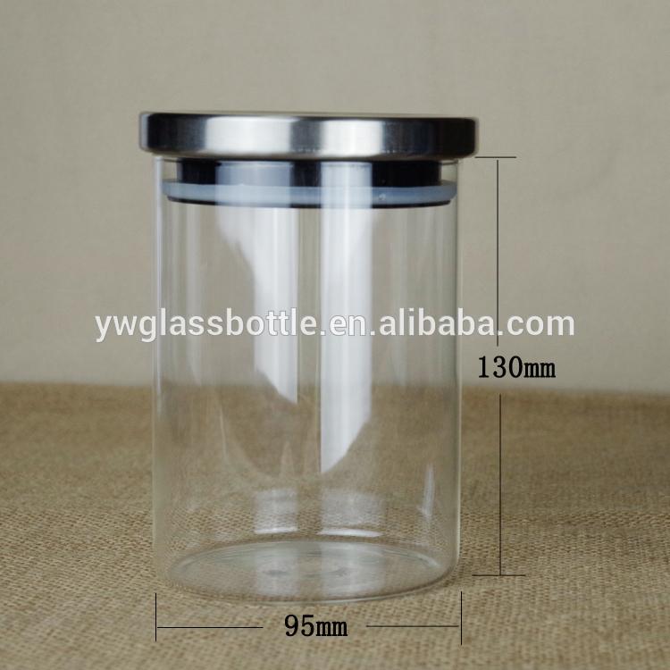 Tarro de galletas frasco de vidrio con tapa de acero - Tarro cristal con tapa ...