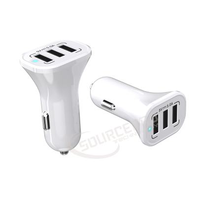 China Leveranciers 3 Poort 5A Mobiele Telefoon Usb Auto Charger Met Smart IC Technologie