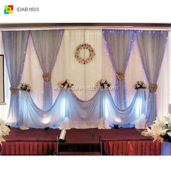 Fancy Wedding/banquet Wedding Backdrop Curtain Decoration Mandaps ...