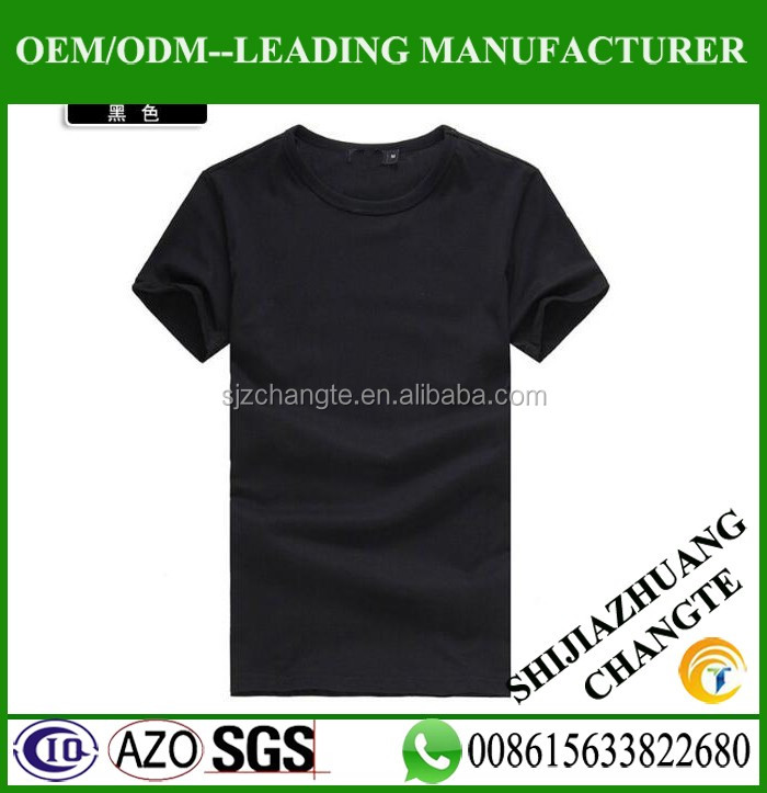 Promotional 120g Customized Black T Shirt